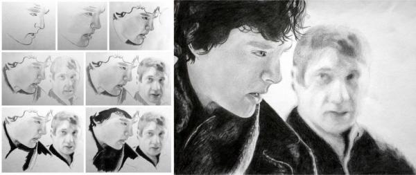 Benedict Cumberbatch, Martin Freeman by Wieker21